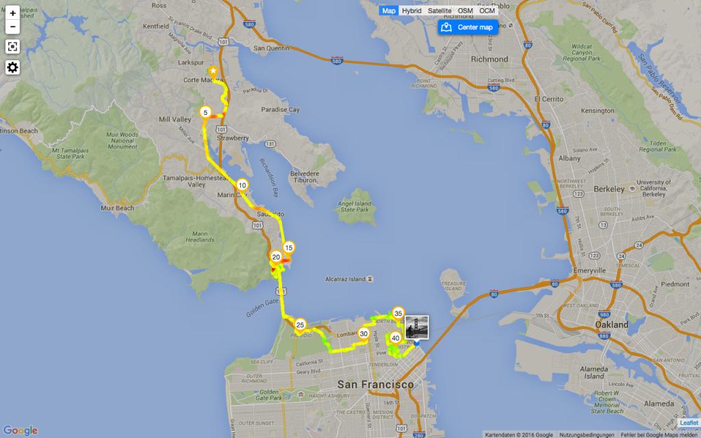 Radtour nach San Francisco
