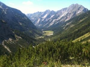 Blick ins Karwendeltal - MTB-Touren im Voralpenland