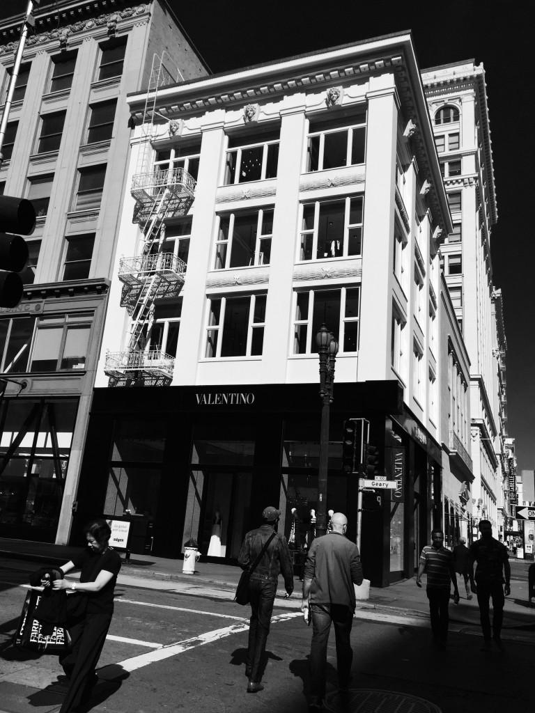 Zwischen Union Square und Market Street