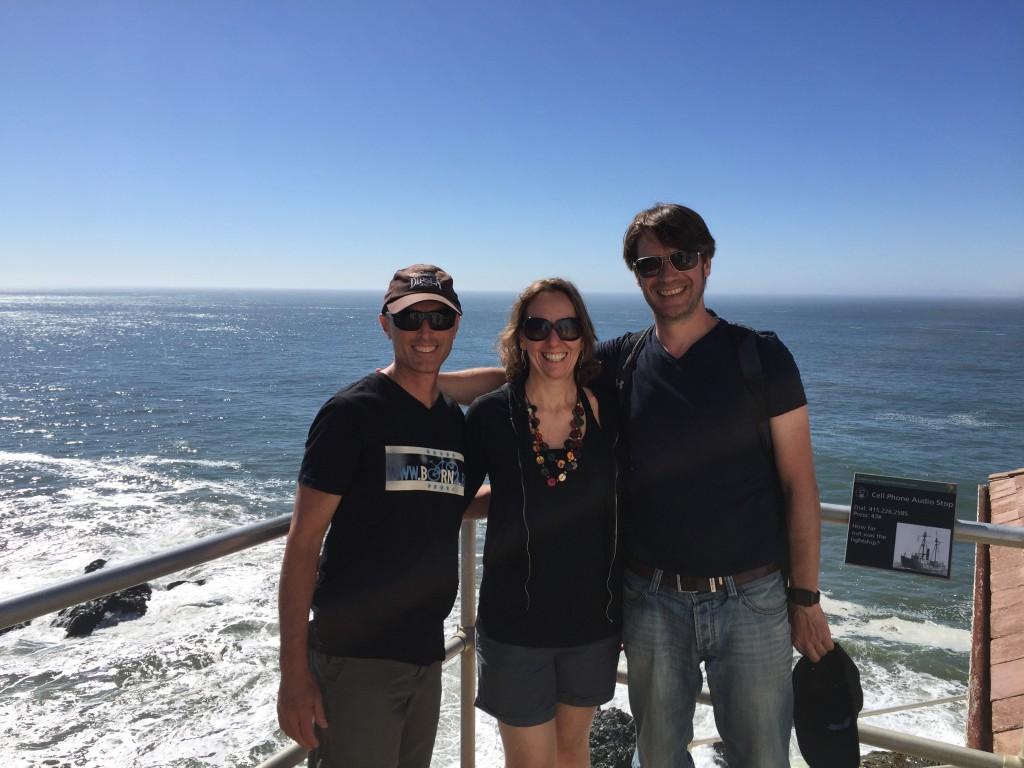 Hélène, Jason and Patrick at the Point Bonita Lighthouse