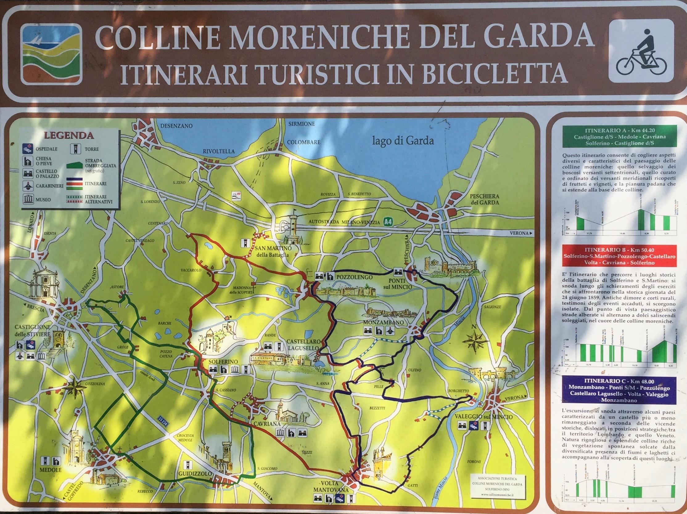 Radwege südlicher Gardasee