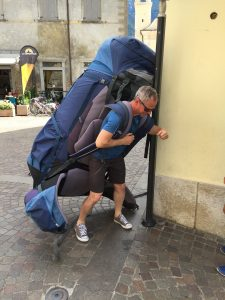 zuviel Gepäck