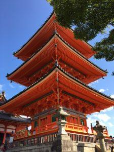Turm beim Kiyomizu-dera Tempel