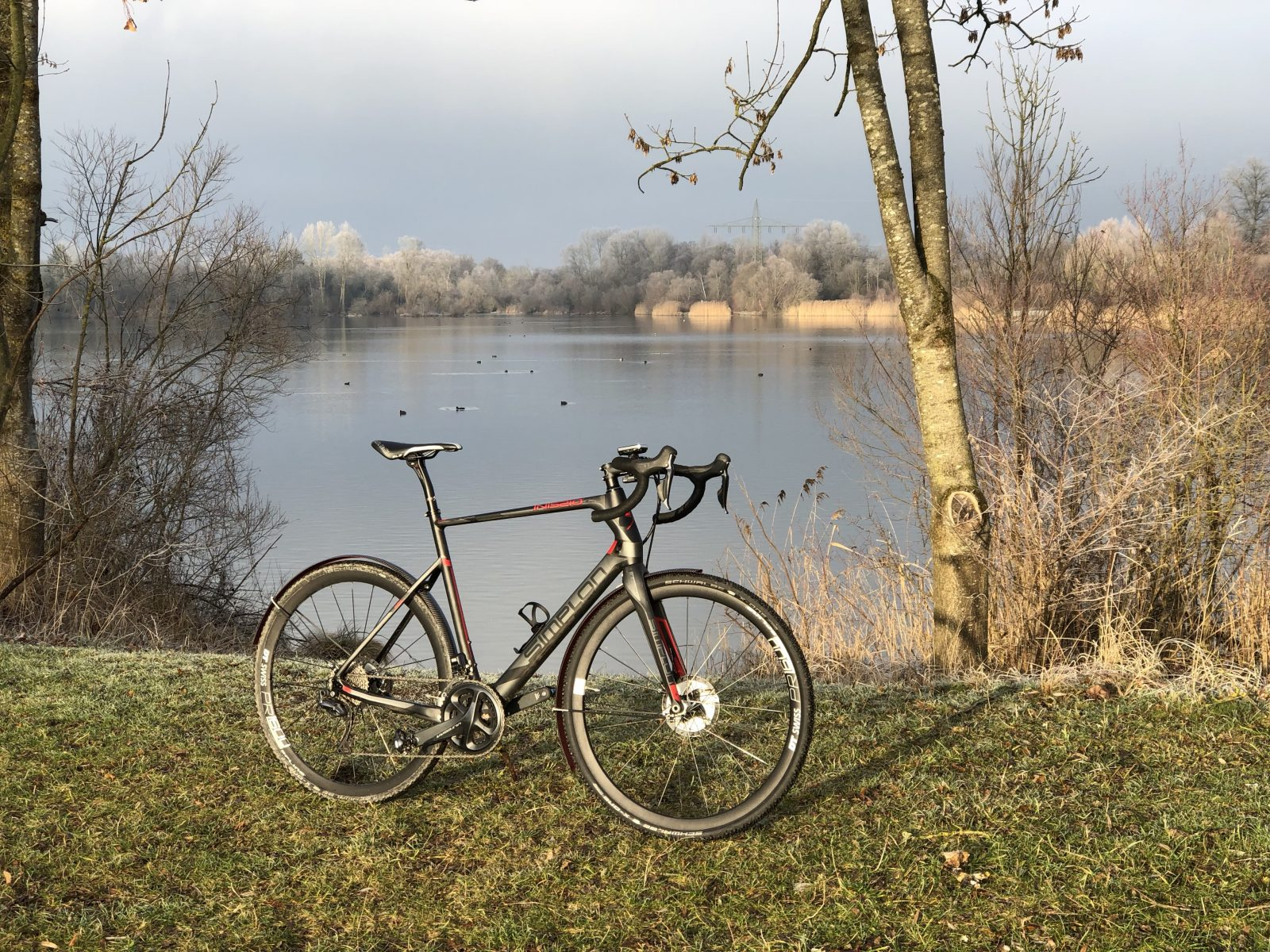 Gravelbike am See
