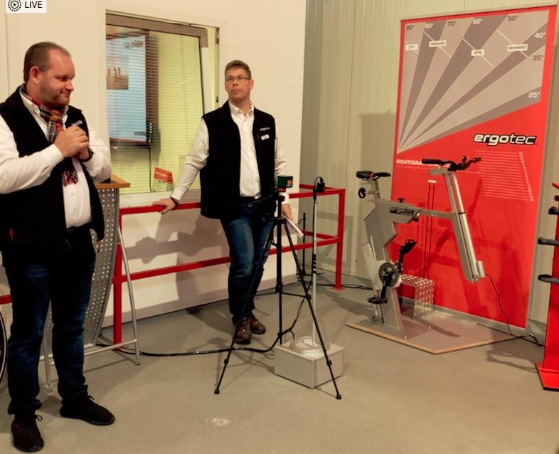 Thorsten und Alex erklären Ergonomie und Bike Fitting mit dem ergotec Scanner