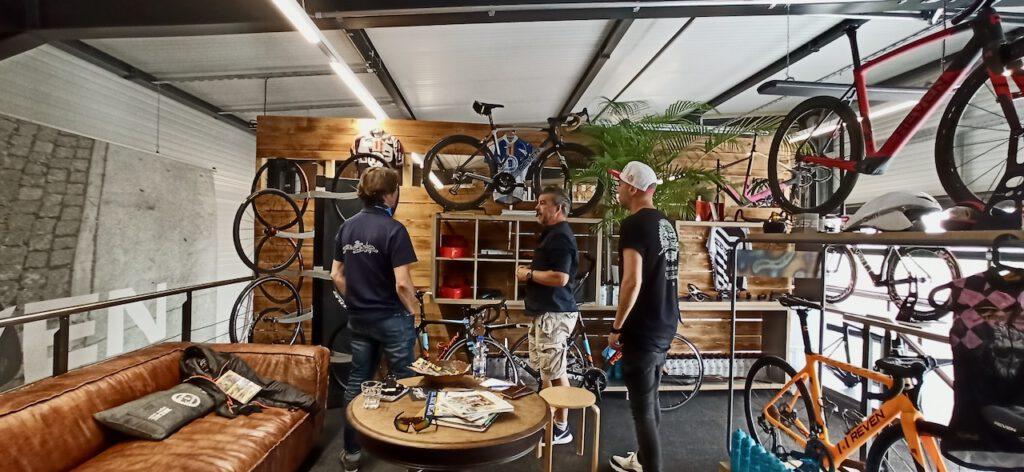 Showroom und Café von Radklamotte und Reven