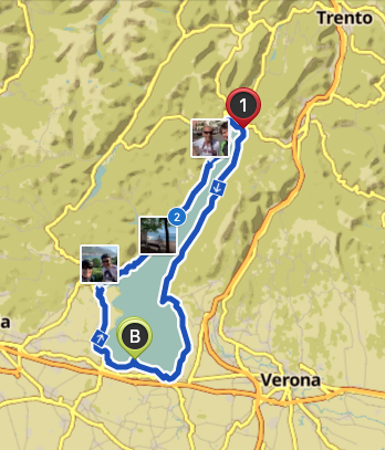 Ein Gardasee Bike Abenteuer: einmal rund um den Gardasee