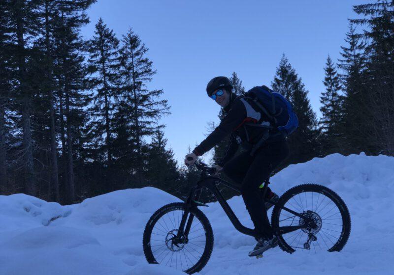 Biken im Corona-Winter