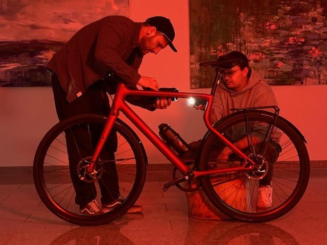 Bike Art in der Galerie